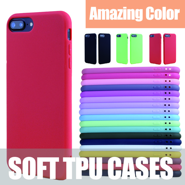 MOQ 500 PCS Candy Color Cell Phone Cases for iPhone Xs Max Xr X 7 8 6s 6 Plus 5 5S 5SE Case Tpu Slim Soft Ultra-thin Back Cover
