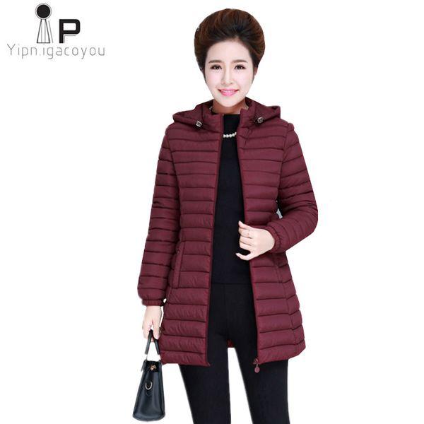 Nouvelles D'hiver À Duvet Veste Parka Coton Coat Down Pour Acheter Size Femmes Manteau Chaud En Long Plus Vestes Noir Jacket Capuche CrodeBWx