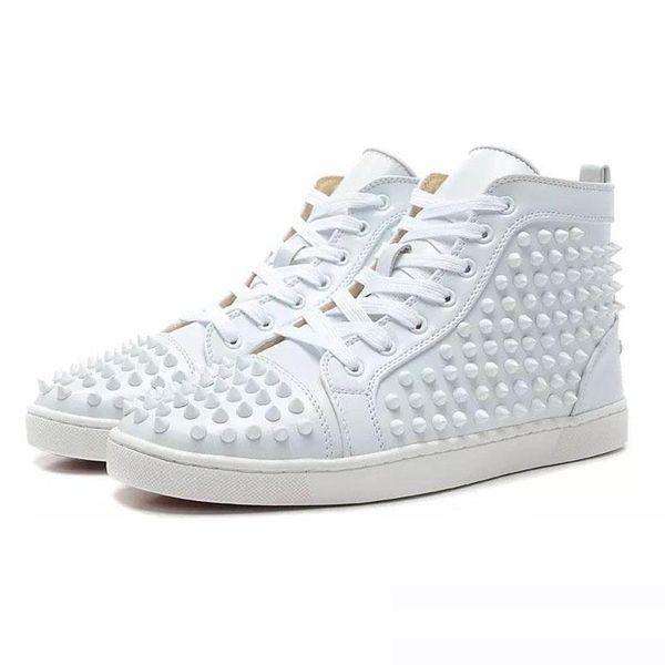 2019 ACE Red Bottom Luxury Designer Brand Studded Spikes Flats zapatos casuales Zapato para hombre y para mujer Amantes de las fiestas Zapatillas de deporte de cuero genuino