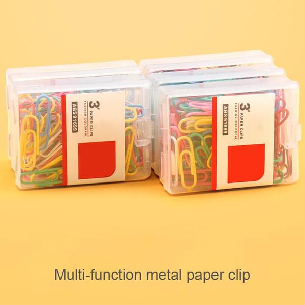 100Pcs Colorful Paper Clips Note classificate Clips for Kids Student School Stationery Forniture per ufficio