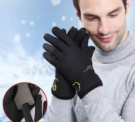 Elevata elasticità del Guanti Uomo in inverno arredamento e ispessimento contatto termico schermo Confortevole Equitazione antivento e impermeabile
