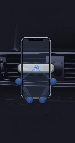 Verkaufs-Belüftungsöffnungs-Berg-beweglicher intelligenter Telefon-Halter-Autohalterung Schwerkraft, die Haltewinkel im Kleinpaket 60pcs / lot abfragt