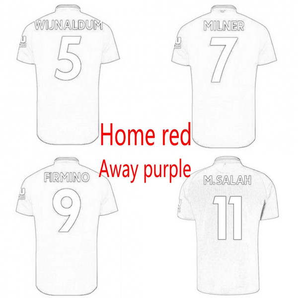 cheap for discount 611d8 acd6a 2019 18 19 The Reds Soccer Jersey FIRMINO KEITA MILNER MANE SHAQIRI VIRGIL  Salah Football Shirt Kids Kit Adult Uniforms Home Away Jerseys From ...