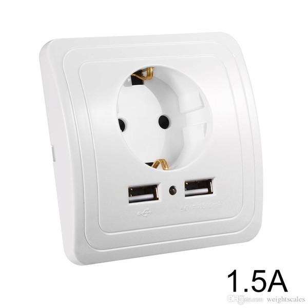 AC 20 A 250 V US Plug Socket Chargeur mur Alimentation Récipient Outlet Adaptateur Blanc