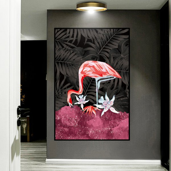 boho room decor diy.htm pink flamingo landscape wall art pvc painting nordic posters and  wall art pvc painting nordic posters