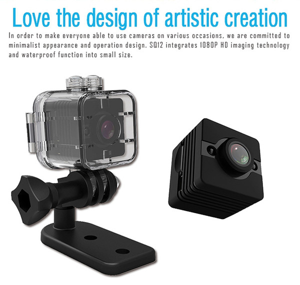 Original mini camera q12 full hd 1080p waterproof hell cmo en or infrared night vi ion recorder camcorder upport tf card