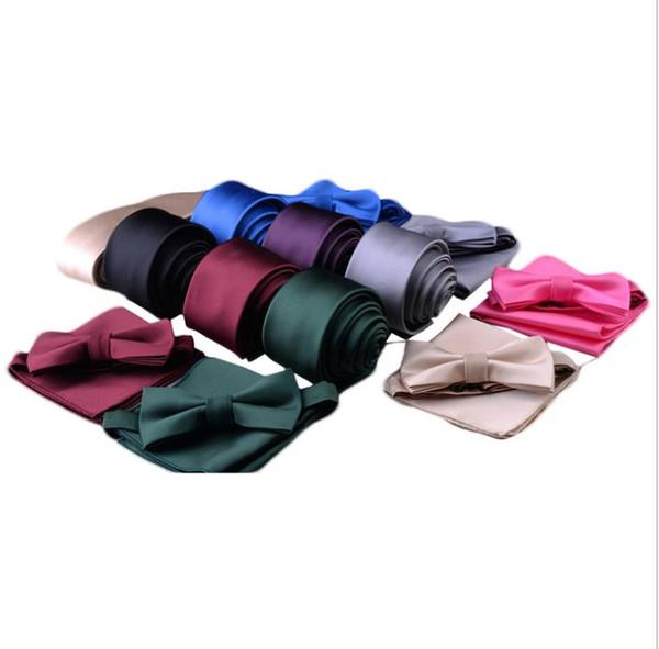 New collar tie, scarf, plain thread three-piece set