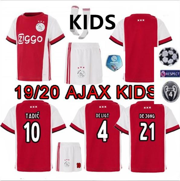 Grosshandel 2019 2020 Ajax Fc Fussball Trikot Kinder Trikots 1920 Ajaxa Msterdic Ziyech Neres Fussball Trikot De Ligt Fussball Trikot Trikot Trikot Jong