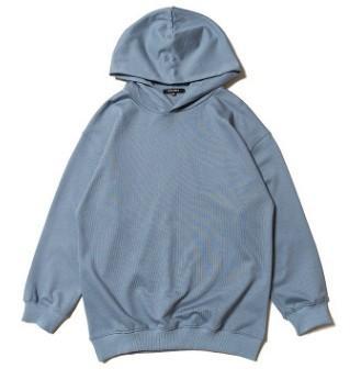 Azul con capucha
