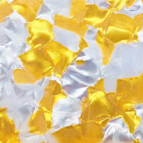 Acrylic (PMMA) Celluloid Crystal sheets, 3.0mm Thickness - Gold Foil (CL2228)