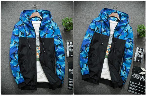 Ceketler X-spor Casual Fermuar Kapüşonlular Patchwork Baskı Patchwork M-6XL B101556T Running 2020 Toptan Erkekler için Tasarımcı WINDBREAKER Spor