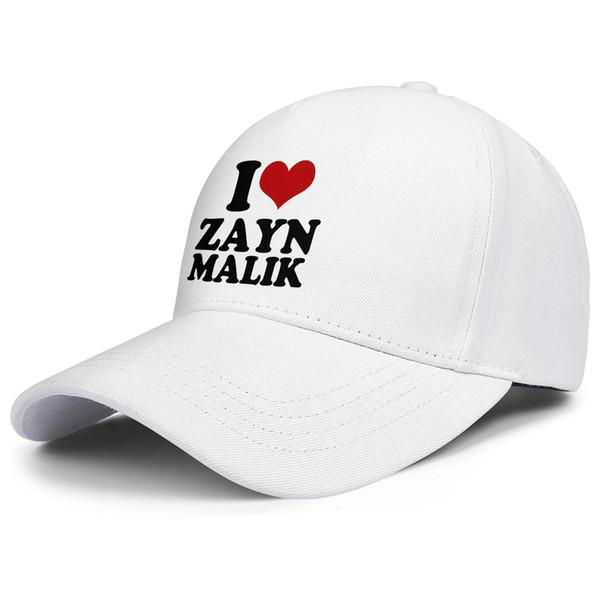 I love Zayn Malik white for men and women trucker cap ball cool designer uk hats