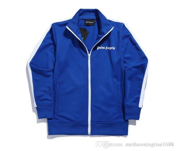 2020 Moda de Palm Ángeles para hombre chaquetas casuales de cuello Stand de diseño de gran tamaño de la palma Ángeles letra de la impresión de la raya de manga larga Coats
