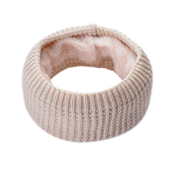 New Women Men Winter Neck Scarf Solid Soft Warm Collar Knitted Boys Girls Woolen Ring Fashionable Clothes Accessories Scarves