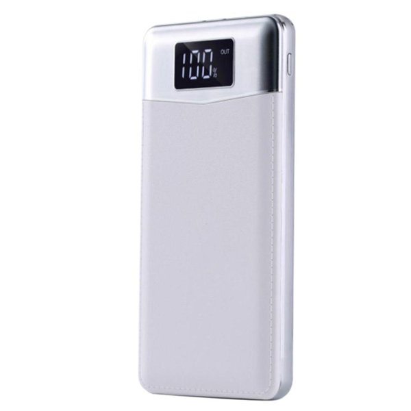LED 5V mAh Charger Durable Digital Power Flashlight Bank With Mobile Display 5V1A 2 10000 2A USB 1A Micro Power LCD
