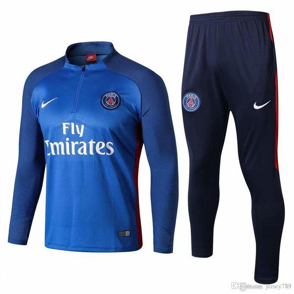 2018 2019 PSG Paris ternos de treinamento MBAPPE futebol chandal futebol sportswear terno de treinamento adulto calças justas jaqueta esportiva