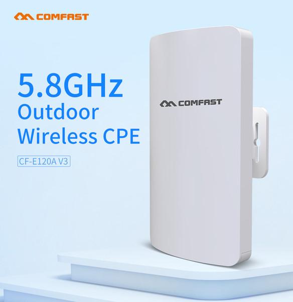 Comfast Mini 5.8 جيجا هرتز جهاز لاسلكي CPE Bridge في الهواء الطلق 1-2Km طويل المدى شبكة واي فاي راوتر IP كاميرا مراقبة W-ifi الهوائي CF-E120A