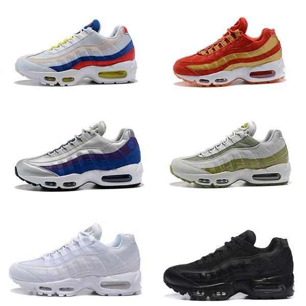 2019 New Cushion 95 Premium Triple Black White 95s Men Running Shoes OG Grape Neon Red Trainers Desinger Sports Sneakers Size 40-46