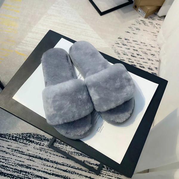 donne vendita calda pelliccia di lusso firmati Pantofole Slides scarpe pantofola Furry Infradito Sandali Sliders Fuffly Trascinare sandalo donne B100502W