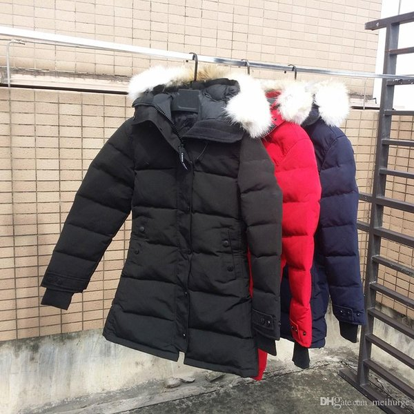 Women's Down Jackets Shelburne PARKA FUSION FIT Duck Wolf Fur Coat Winter Thick Warm Coats Parkas Hooded Coat Downs women winter down coat