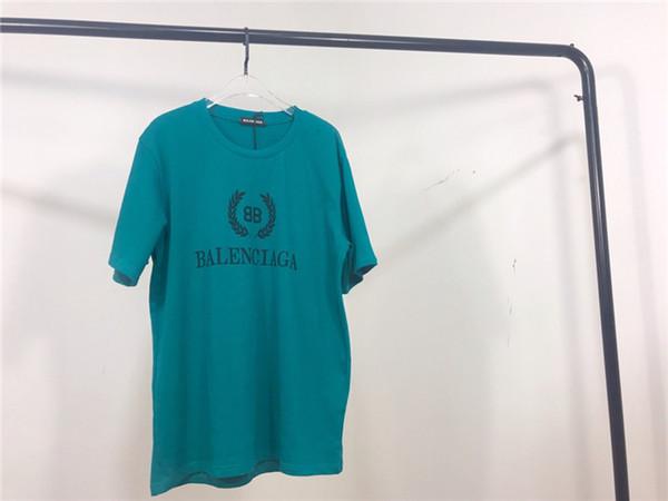 19ss Nouveau design de marque de luxe BB Wheat print oversize Tee Shirt Hommes Femmes Capsule Collection Streetwear Chemises d'extérieur