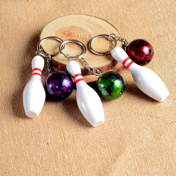 Yeni Metal Bowling Topu Anahtar zincirleri Moda Yenilik Spor Anahtar yüzükler Hediyeler için Promosyon ÜCRETSIZ KARGO JF-713