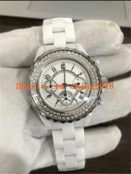 2019 heißer verkauf luxusuhr frauen diamant uhren weißes zifferblatt quarzwerk keramikbänder frauen uhren für frau ww506