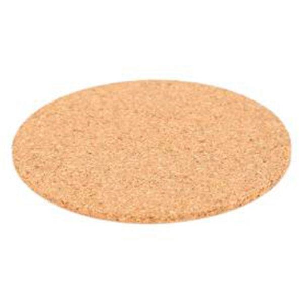 100pcs / lot naturel tasse de café tapis rond en bois résistant à la chaleur en liège mat dessous de verre pad de table de décoration