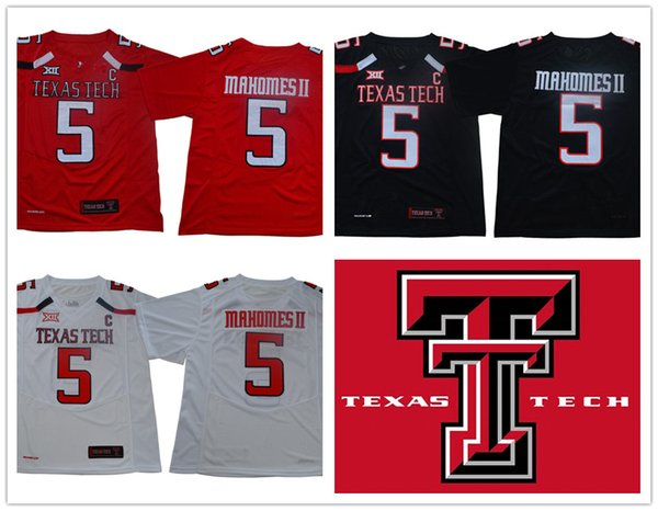 on sale ce8c2 514e7 2019 NCAA Texas Tech #5 Patrick Mahomes II Black 2018 KC #15 Jersey TTU Red  Raiders Michael Crabtree College Football White Jerseys From Gatejerseys,  ...