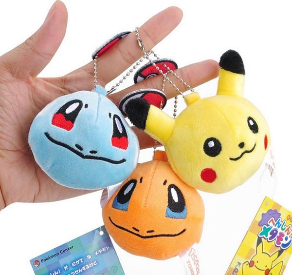 top popular 7CM Pikachu Plush Stuffed Toy Doll Kid's Party Keychain Gift Plush Toys Decor Pendant Toy 2019