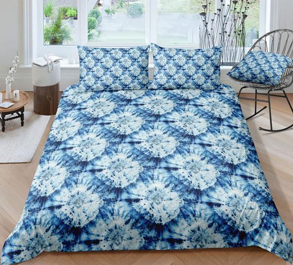 Thumbedding Shining Designed White Flower Batik Bedding Sets King Size Twin Full Queen King Red Flower 3D Duvet Cover Set 3PCS
