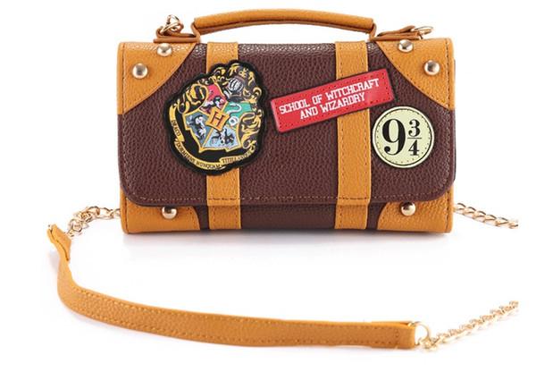 Harry Potter Carteira Saco Hogwarts PU Escola Crachá Carteira Pacote Colecionáveis Ombro saco Bolsas Presentes do Dia Das Bruxas
