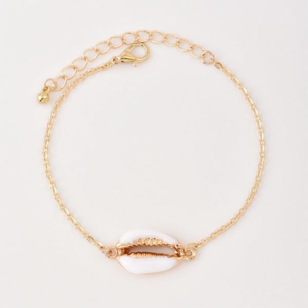2019 Global popolare gocciolamento conchiglia delle donne braccialetto personalità della moda nuova croce gioielli ...