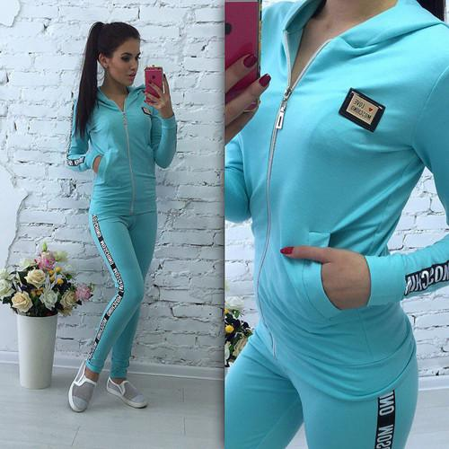 18newEurope and the United States new autumn and winter fitness, leisure, fashion, letter, print, sports, sweater, women's suit size S--XXL
