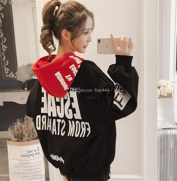 Designer Hoodies Women 2019 Women Fashion Sweatshirts Long Sleeve Hoodies Print Letter Female Tracksuits Sportswear Moletom Feminino lol