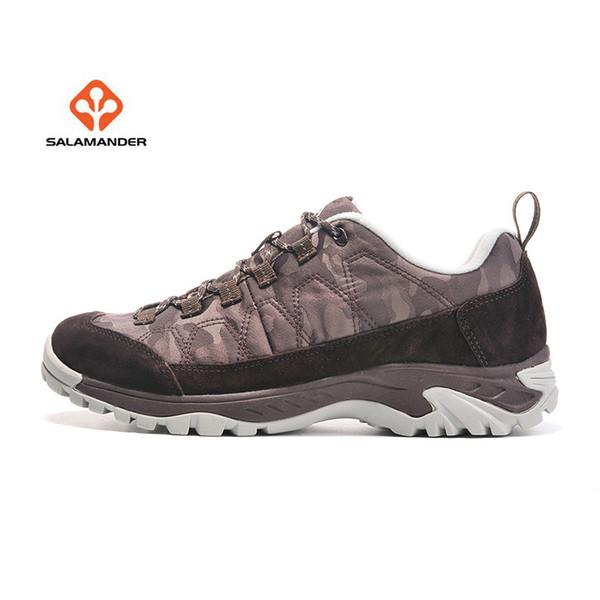 Compre SALAMANDER Hombre Cuero Al Aire Libre Senderismo Trekking Zapatillas De Deporte Zapatos Para Hombres Deporte Escalada Mountain Trail Zapatos