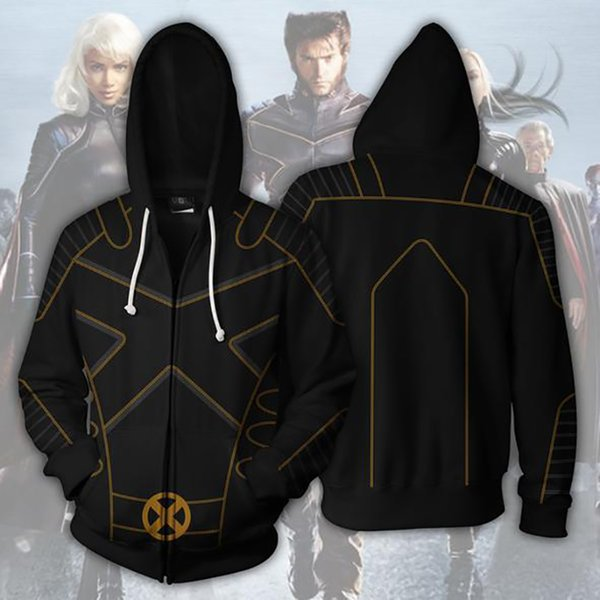 New Fashion Men Cool 3D Deadpool 2 X-men Sweatshirt Hoodies Cosplay Streetwear Hoody Zipper Hoodie hooded Jacket Tops