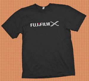 Fujifilm X serisi Fuji Kamera logosu t gömlek S-3XL nikon canon git pro