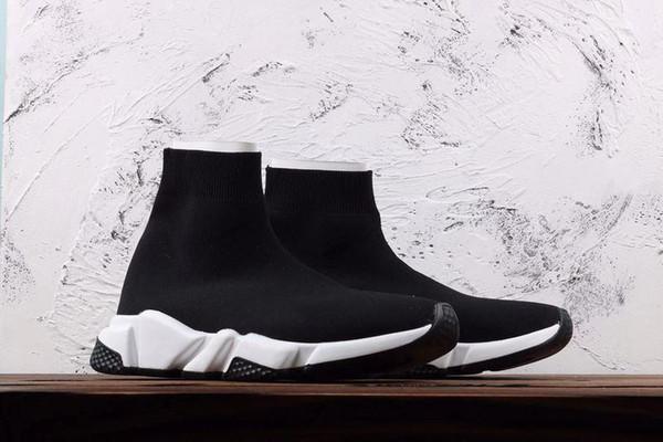 Носок Обувь Casual обуви Speed Trainer высокого качества кроссовки Speed Trainer Носок гонки Бегуны черные ботинки мужчины и женщины обуви A30