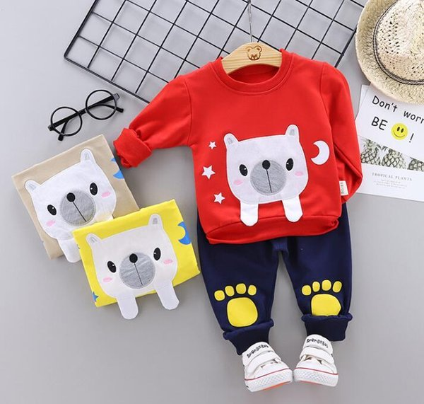 Spring Suit for Children and Girls Manufacturer Direct Sale of Cartoon Baby Clothes and Baby Suits