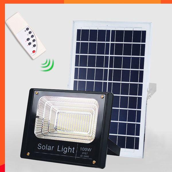 4 PCS Solar LEVOU Holofotes de Luz 10 W / 25 W / 40 W / 60 W / 100 W / 120 W Controle de Luz Holofote Tuinverlichting Rua Lâmpada À Prova D 'Água IP67