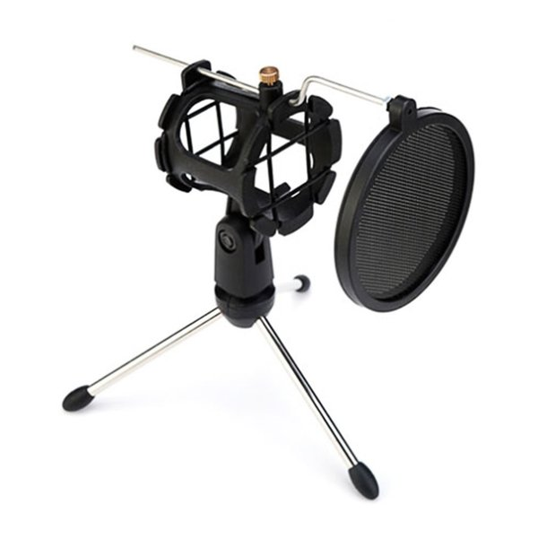 Microphone Tripod Stand Desktop Microphone Bracket with Mount Mic Mikrofon Holder Clip and Filter