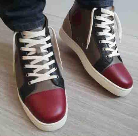 With Hand bag Top Birthday Gift Red Sole Brand Designer Wine-red Genuine Leather Red Bottom Men Sneakers ORLATO MASTIC SNEAKERS TRAINERS