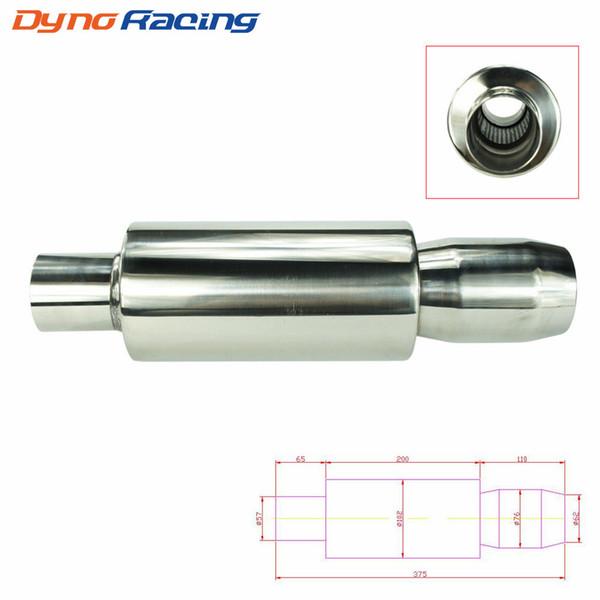 Auspuff-Schalldämpfer-Auspuff-Schalldämpfer aus rostfreiem Chrom (2,25 Zoll), 57 mm