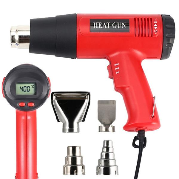Hot Air Heat Gun 866B 2000W Digital LCD Elektrische Temperatur Fan Einstellbare Farbe Shrink Stripper Nacharbeits DIY Werkzeug + Düse