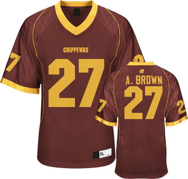 Antonio Brown College >> 2019 Mens Central Michigan Chippewas Antonio Brown College Football Jerseys Cheap Mroon 27 Antonio Brown Stitched Football Shirts From Yiwanwuji
