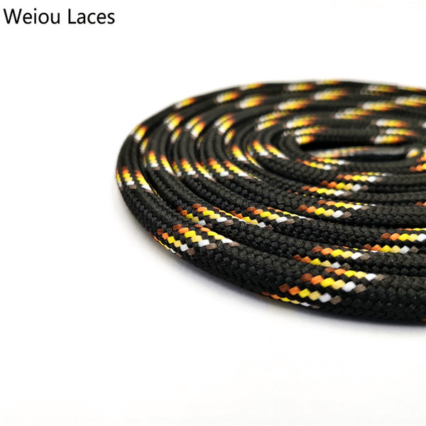 Shoelaces For Christmas.2018 Weiou 6mm Round Rope Laces Black With Colorful Dots Line Yellow Bootlaces Unisex Striped Shoelaces For Sneakers Christmas Sale From Hzh930 0 86