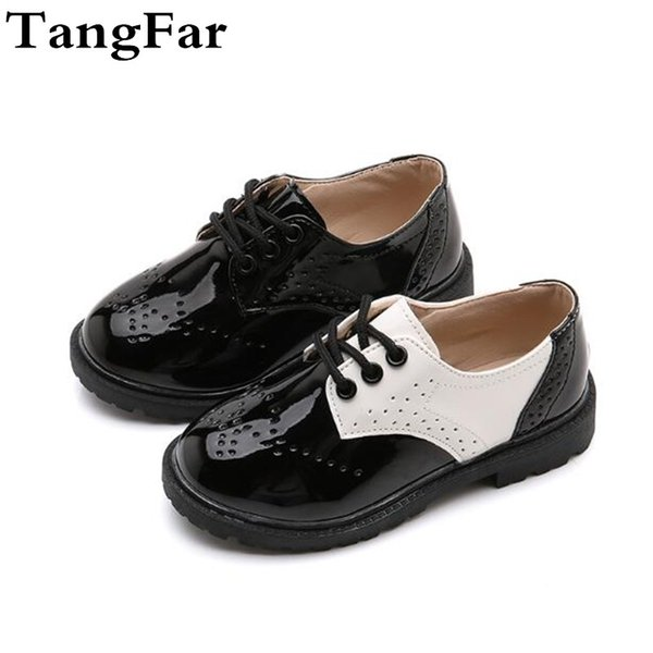 New Boys Leather Shoes Fashion Causal Kids School Shoes Formal Wedding For Girls Flat Loafers