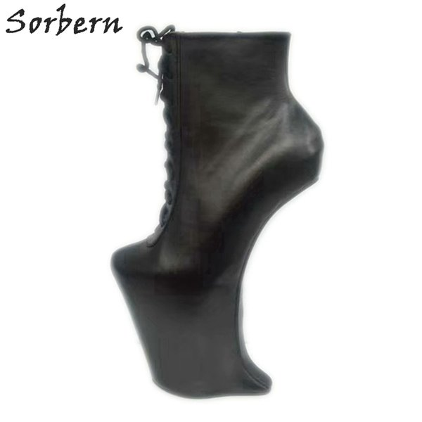 luxuriant in design get new how to buy Custom Short Boot Heelless Sexy Fetish High Heel Booties Hoof Platform  Shoes Performance Boot Plus Size Shoes No Heels Ankle Boots Cowboy Boots  From ...