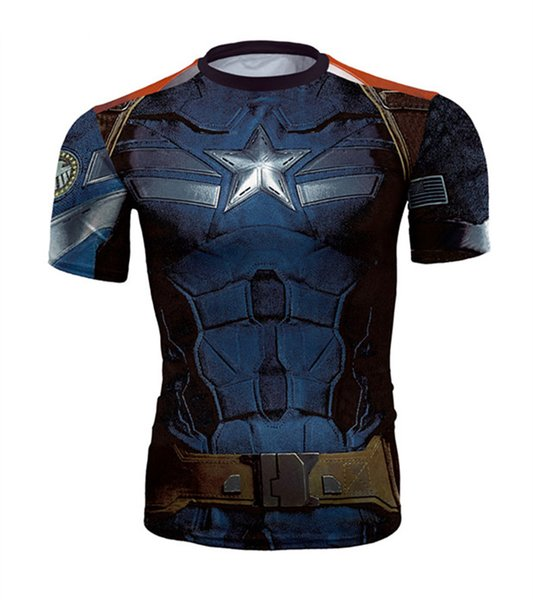 Avengers Men Summer Quick Dry 3D Print Tshirts Fashion Crew Neck Short Sleeve Clothing Casual Apparel